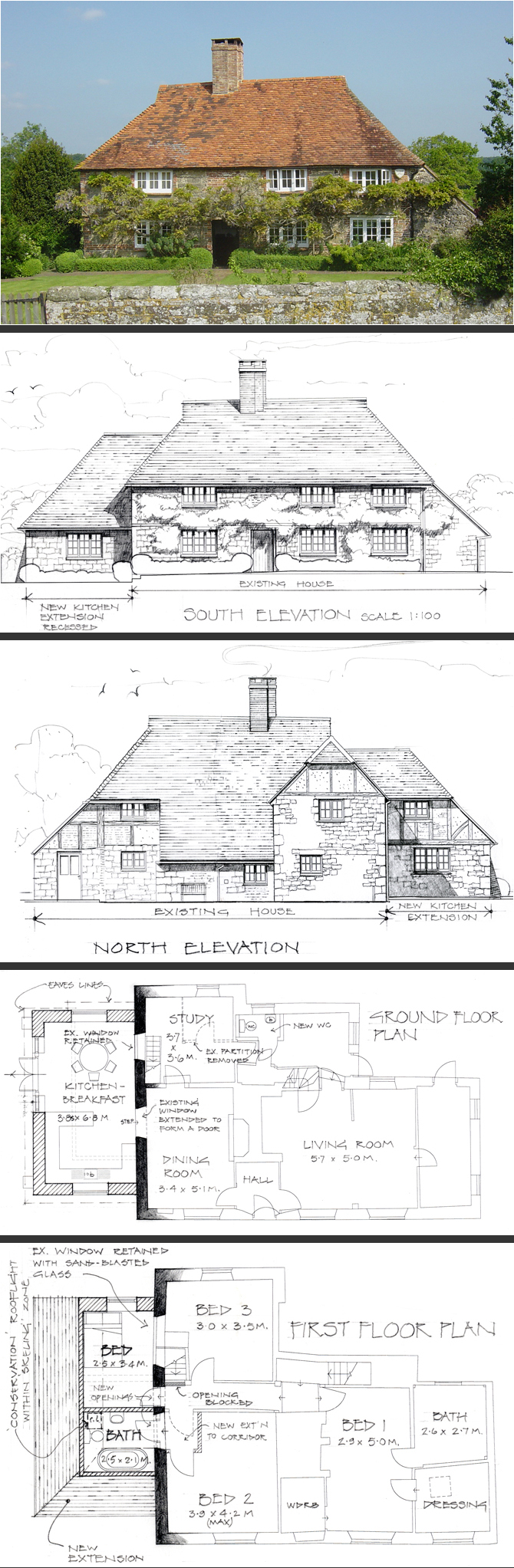 Extension to farm house in Pulborough